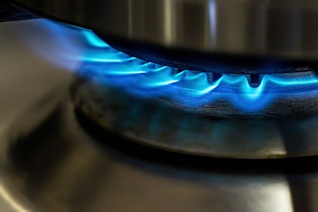 Flamme beim Gaskochfeld Test