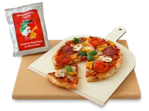 Vesuvo Pizzastein Set eckig V38301